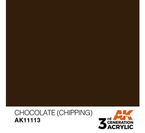 AK INTERACTIVE (AKI) 11113 AK Interactive 3rd Gen Acrylic Chocolate (Chipping) 17ml