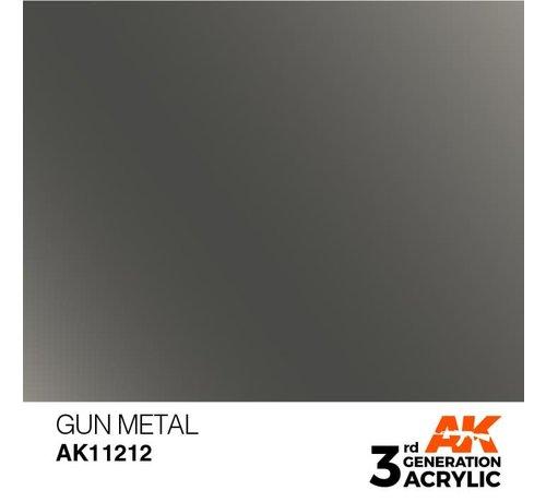AK INTERACTIVE (AKI) 11212 AK Interactive 3rd Gen Acrylic Gun Metal 17ml