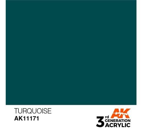 AK INTERACTIVE (AKI) 11171  Turquoise 3rd Gen Acrylic 17ml