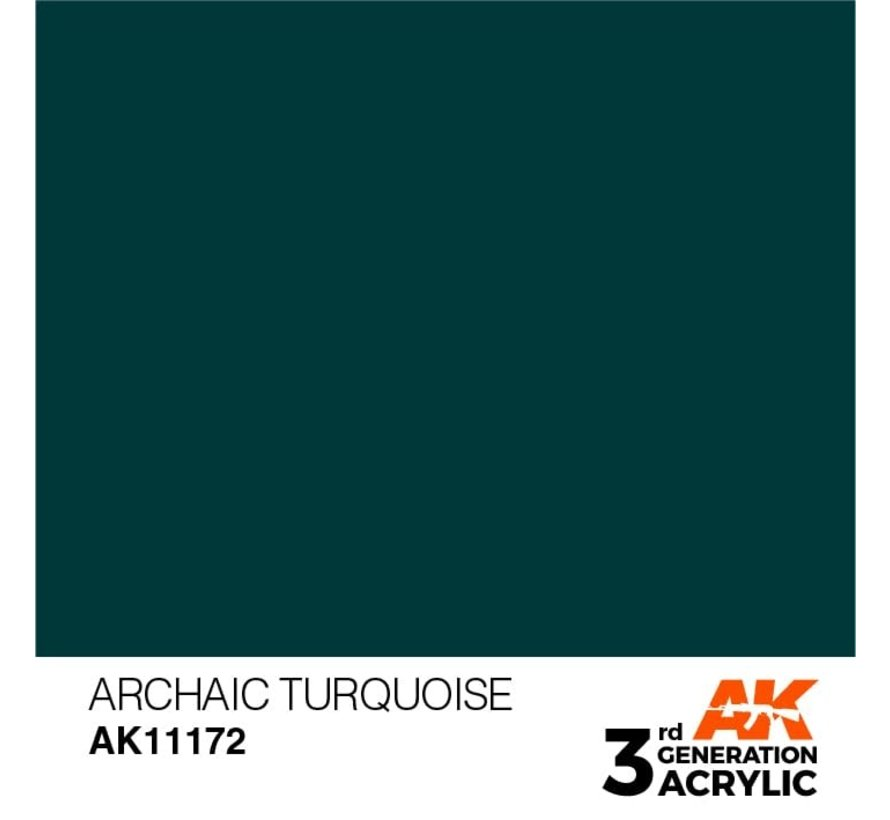 11172 AK Interactive 3rd Gen Acrylic Archaic Turquoise 17ml