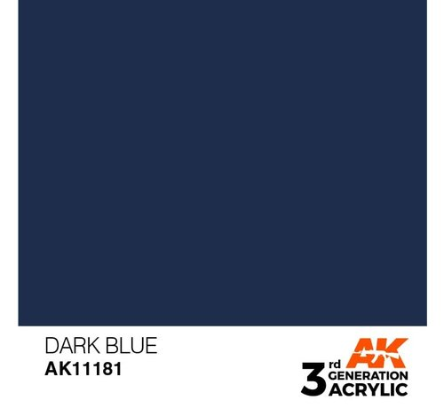 AK INTERACTIVE (AKI) 11181 Dark Blue 3rd Gen Acrylic 17ml