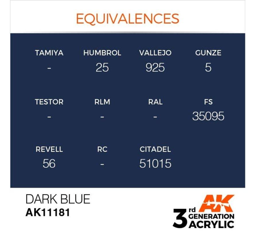 11181 Dark Blue 3rd Gen Acrylic 17ml