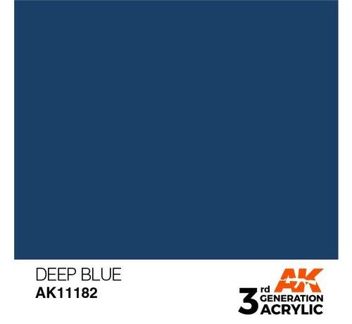 AK INTERACTIVE (AKI) 11182 Deep Blue 3rd Gen Acrylic  17ml