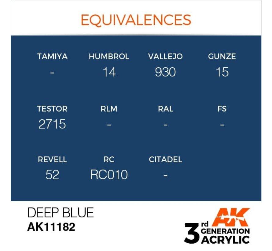 11182 Deep Blue 3rd Gen Acrylic  17ml