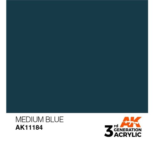 AK INTERACTIVE (AKI) 11184 Medium Blue 3rd Gen Acrylic 17ml