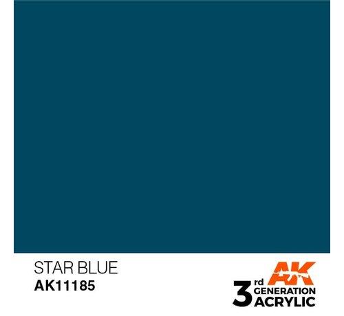 AK INTERACTIVE (AKI) 11185 Star Blue 3rd Gen Acrylic 17ml