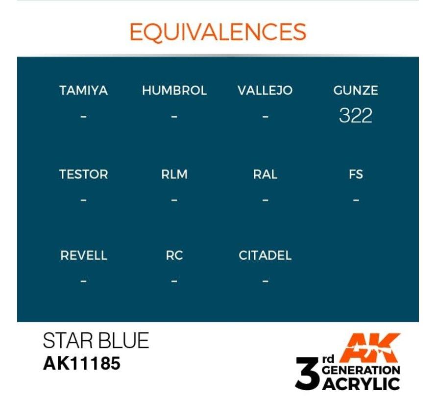 11185 Star Blue 3rd Gen Acrylic 17ml