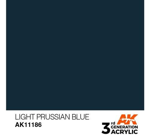 AK INTERACTIVE (AKI) 11186 Light Prussian Blue 3rd Gen Acrylic 17ml