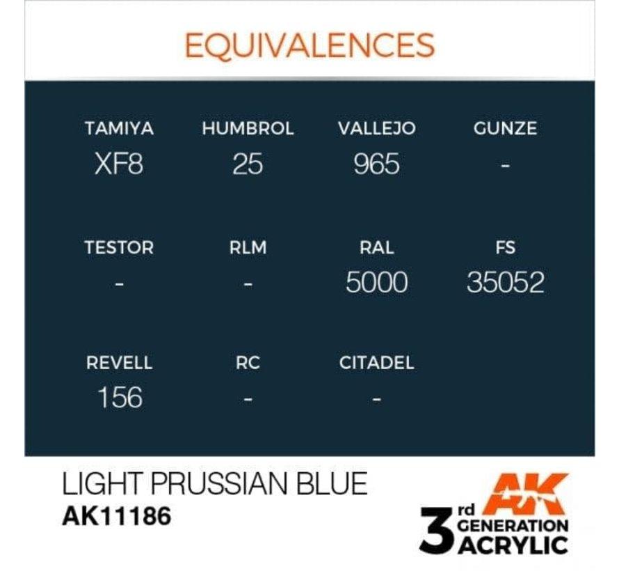 11186 Light Prussian Blue 3rd Gen Acrylic 17ml