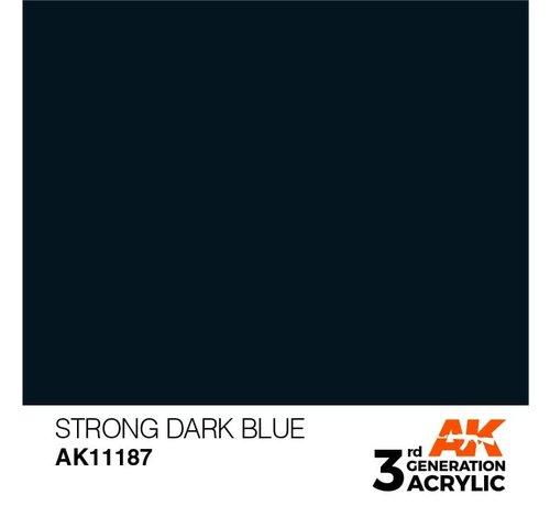 AK INTERACTIVE (AKI) 11187 Strong Dark Blue 3rd Gen Acrylic 17ml
