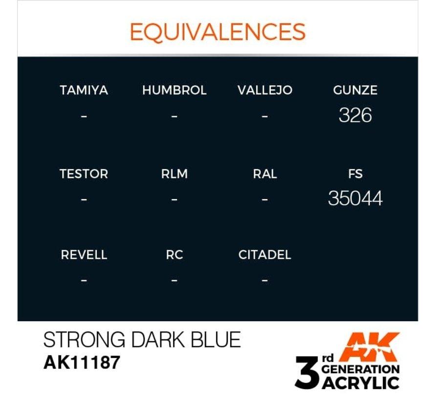 11187 Strong Dark Blue 3rd Gen Acrylic 17ml