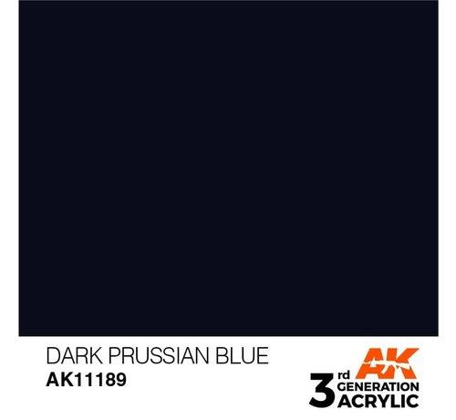 AK INTERACTIVE (AKI) 11189 Dark Prussian Blue 3rd Gen Acrylic 17ml
