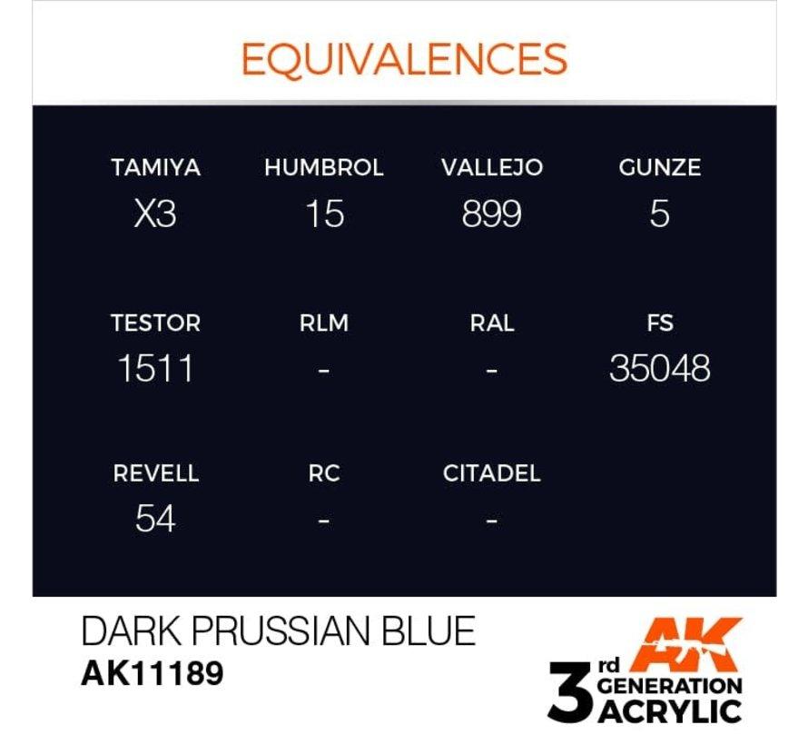11189 Dark Prussian Blue 3rd Gen Acrylic 17ml