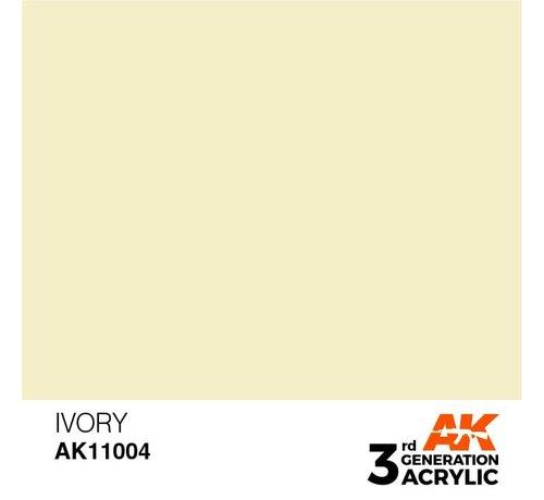 AK INTERACTIVE (AKI) 11004 AK Interactive 3rd Gen Acrylic Ivory 17ml