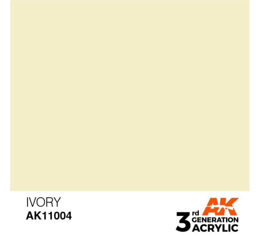 11004 AK Interactive 3rd Gen Acrylic Ivory 17ml