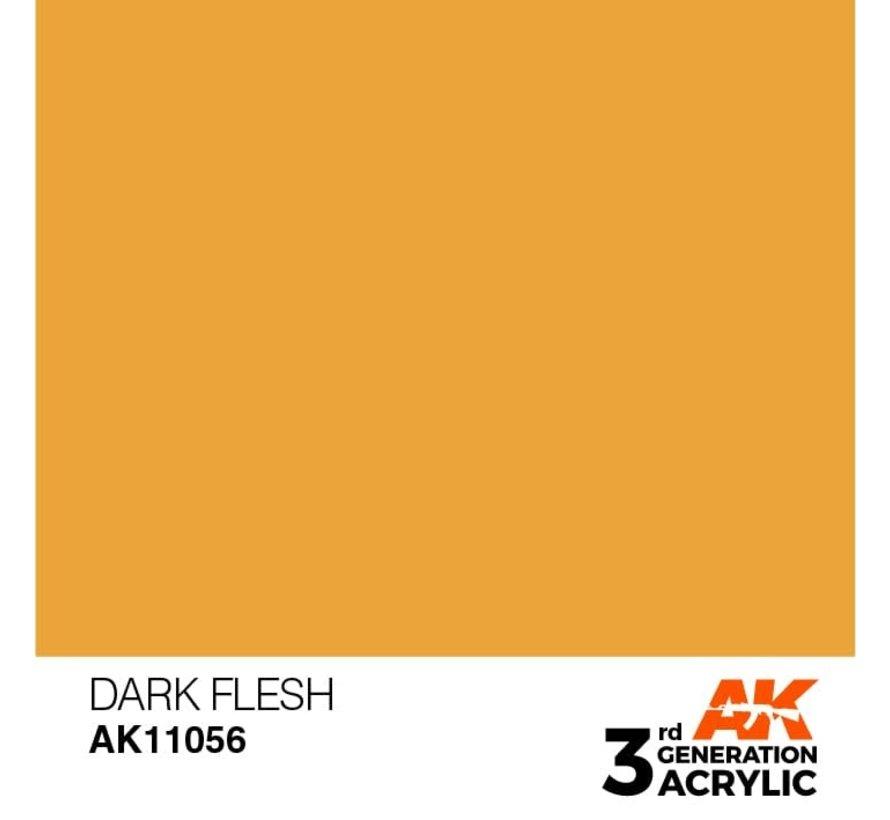 11056 AK Interactive 3rd Gen Acrylic Dark Flesh 17ml
