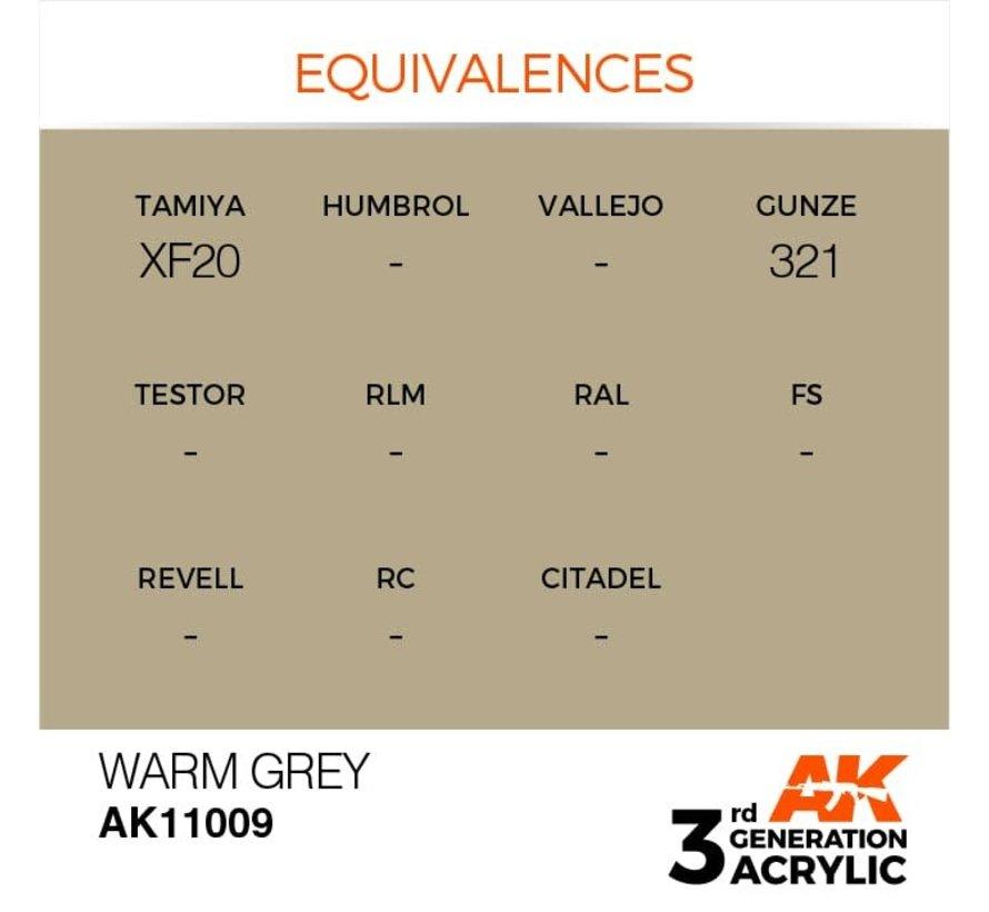 11009 AK Interactive 3rd Gen Acrylic Warm Grey 17ml