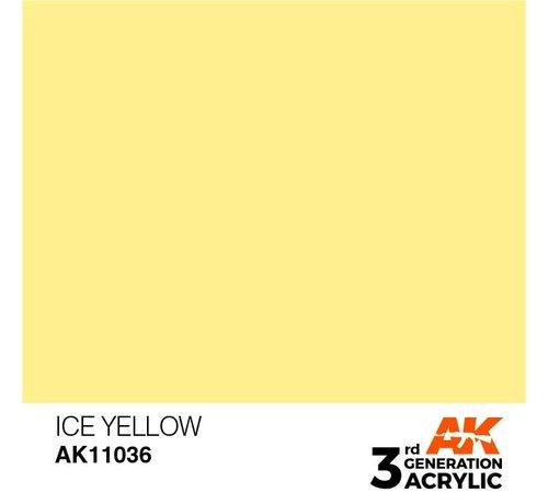 AK INTERACTIVE (AKI) 11036 AK Interactive 3rd Gen Acrylic Ice Yellow 17ml