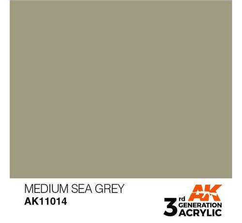AK INTERACTIVE (AKI) 11014 AK Interactive 3rd Gen Acrylic Medium Sea Grey 17ml