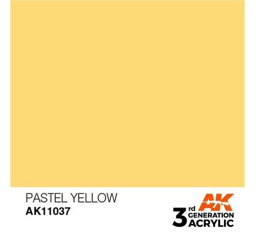 AK INTERACTIVE (AKI) 11037 AK Interactive 3rd Gen Acrylic Pastel Yellow 17ml