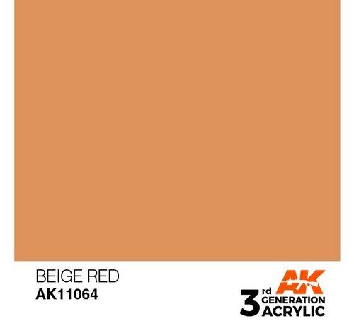 AK INTERACTIVE (AKI) 11064 AK Interactive 3rd Gen Acrylic Beige Red 17ml
