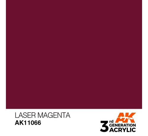 AK INTERACTIVE (AKI) 11066 AK Interactive 3rd Gen Acrylic Laser Magenta17ml