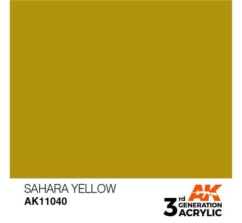 AK INTERACTIVE (AKI) 11040 AK Interactive 3rd Gen Acrylic Sahara Yellow 17ml
