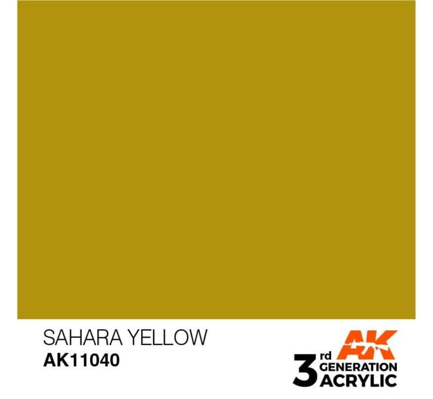11040 AK Interactive 3rd Gen Acrylic Sahara Yellow 17ml