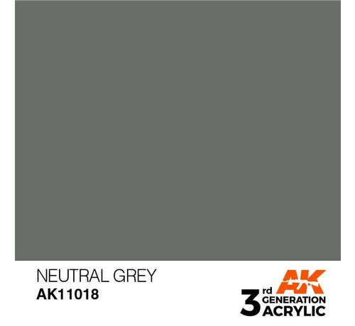 AK INTERACTIVE (AKI) 11018 AK Interactive 3rd Gen Acrylic Neutral Grey 17ml