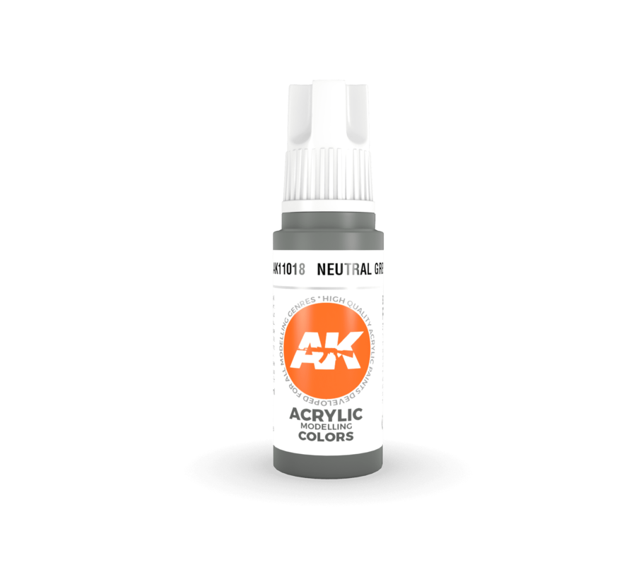 11018 AK Interactive 3rd Gen Acrylic Neutral Grey 17ml