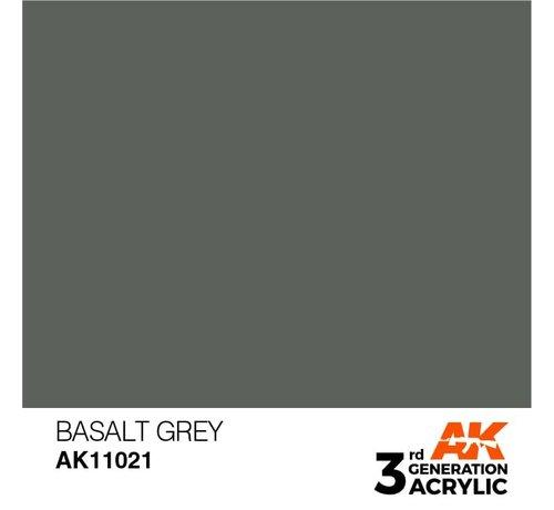 AK INTERACTIVE (AKI) 11021 AK Interactive 3rd Gen Acrylic Basalt Grey 17ml