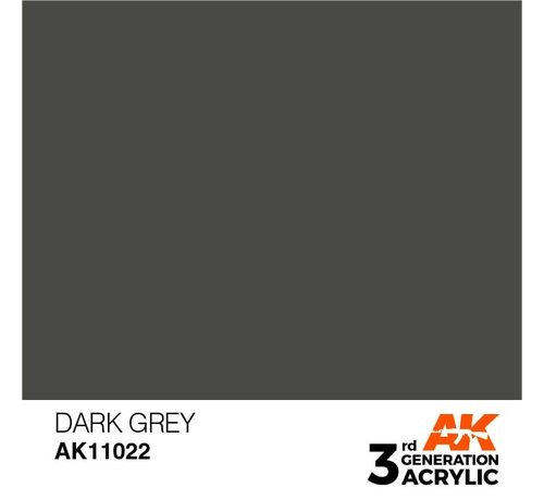 AK INTERACTIVE (AKI) 11022 AK Interactive 3rd Gen Acrylic Dark Grey 17ml