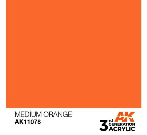 AK INTERACTIVE (AKI) 11078 AK Interactive 3rd Gen Acrylic Medium Orange 17ml