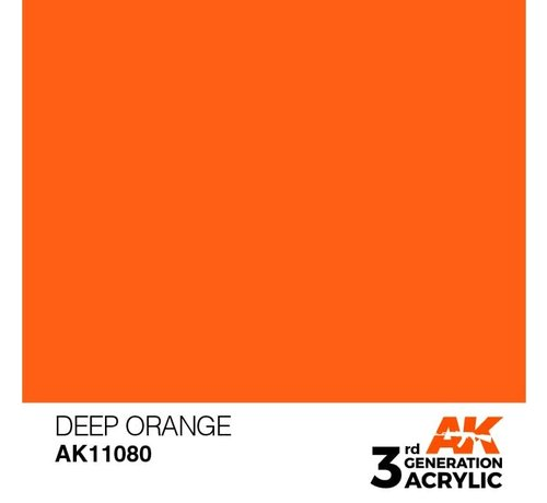 AK INTERACTIVE (AKI) 11080 AK Interactive 3rd Gen Acrylic Deep Orange 17ml
