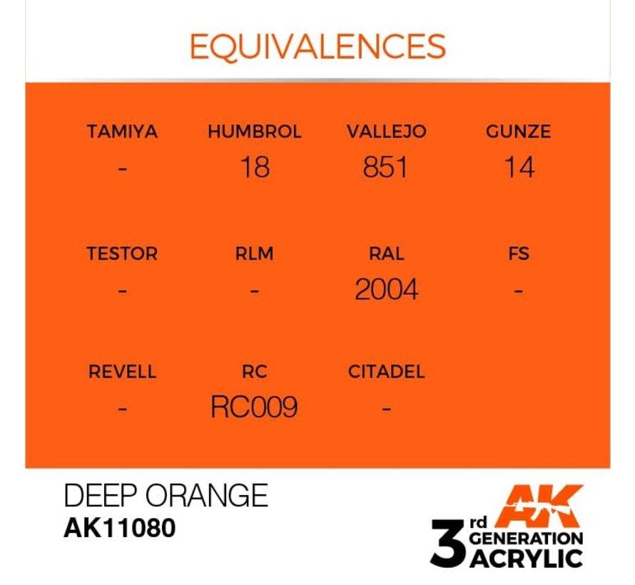 11080 AK Interactive 3rd Gen Acrylic Deep Orange 17ml
