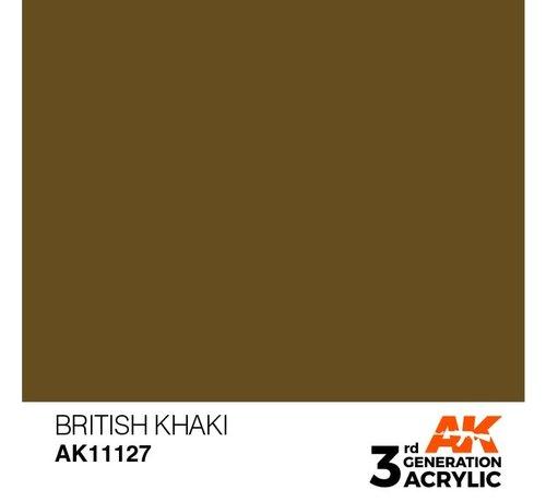 AK INTERACTIVE (AKI) 11127 AK Interactive 3rd Gen Acrylic British Khaki 17ml