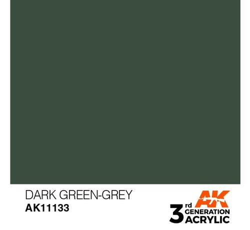 AK INTERACTIVE (AKI) 11133 AK Interactive 3rd Gen Acrylic Dark Green-Grey 17ml