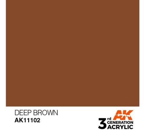 AK INTERACTIVE (AKI) 11102 AK Interactive 3rd Gen Acrylic Deep Brown 17ml
