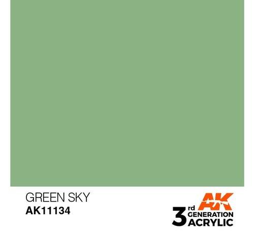 AK INTERACTIVE (AKI) 11134 AK Interactive 3rd Gen Acrylic Green Sky 17ml