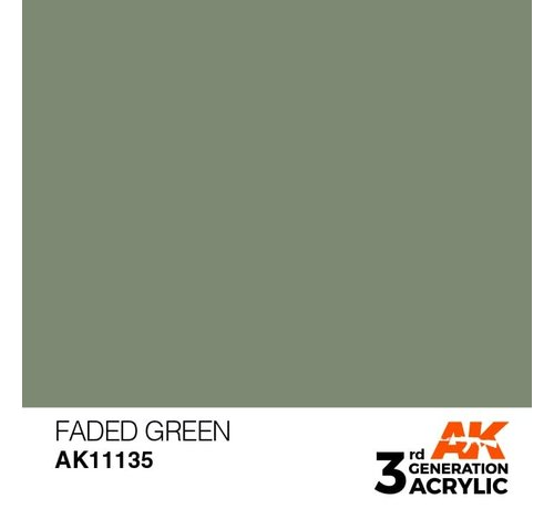 AK INTERACTIVE (AKI) 11135 AK Interactive 3rd Gen Acrylic Faded Green 17ml