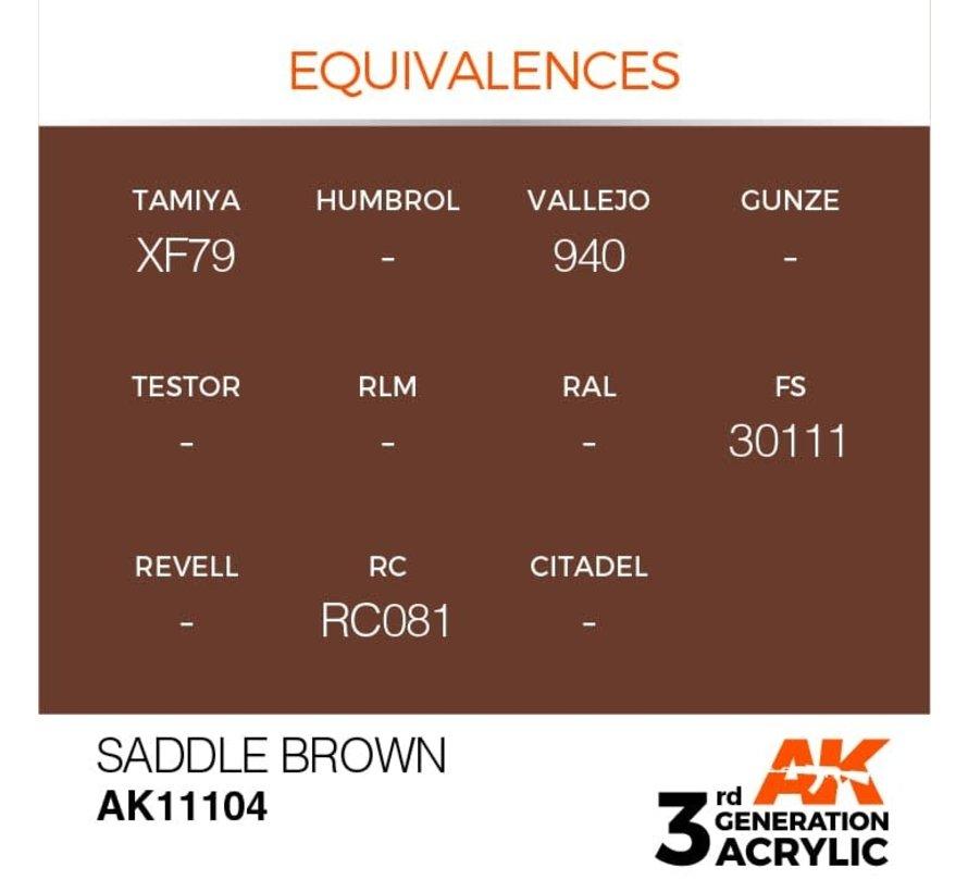 11104 AK Interactive 3rd Gen Acrylic Saddle Brown 17ml