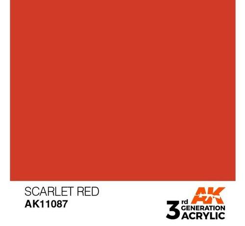 AK INTERACTIVE (AKI) 11087 AK Interactive 3rd Gen Acrylic Scarlet Red 17ml