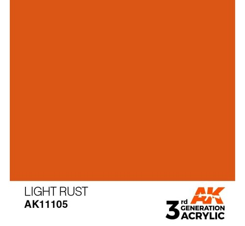 AK INTERACTIVE (AKI) 11105 AK Interactive 3rd Gen Acrylic Light Rust 17ml