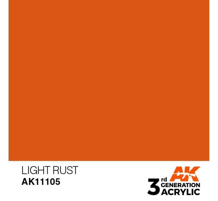 11105 AK Interactive 3rd Gen Acrylic Light Rust 17ml