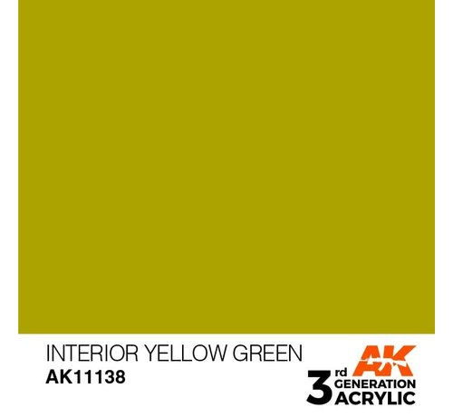 AK INTERACTIVE (AKI) 11138 AK Interactive 3rd Gen Acrylic Interior Yellow Green 17ml