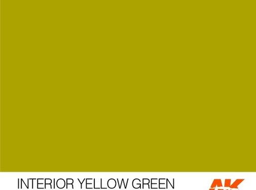 AK INTERACTIVE (AKI) 11138 AK Interactive 3rd Gen Acrylic Interior Yellow Green 17ml