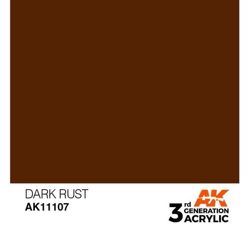 AK INTERACTIVE (AKI) 11107 AK Interactive 3rd Gen Acrylic Dark Rust 17ml