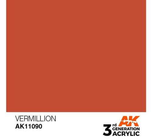 AK INTERACTIVE (AKI) 11090 AK Interactive 3rd Gen Acrylic Vermillion 17ml