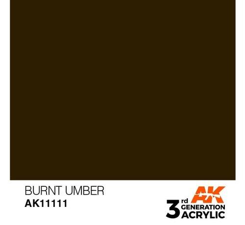 AK INTERACTIVE (AKI) 11111 AK Interactive 3rd Gen Acrylic Burnt Umber 17ml