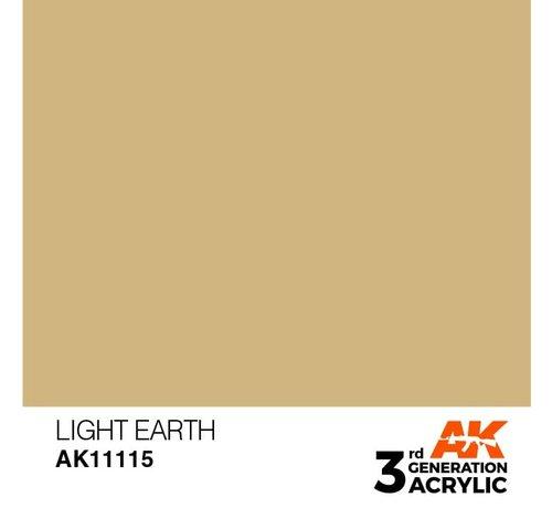 AK INTERACTIVE (AKI) 11115 AK Interactive 3rd Gen Acrylic Light Earth 17ml
